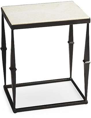 One Kings Lane Eva Marble Side Table - Iron