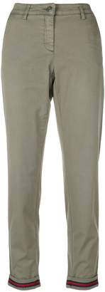 Cambio contrast turn up trousers