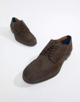 H By Hudson Aylesbury brogues in brown suede