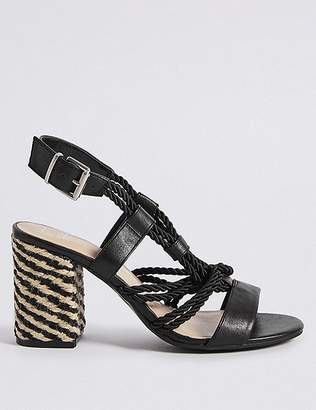 Marks and Spencer Block Heel Rope Sandals