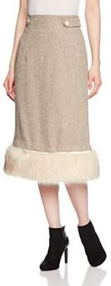 Lily Brown (リリー ブラウン) - [リリーブラウン]フェイクファースカート ウィメンズ BEG 日本 0-(日本サイズ7 号相当)