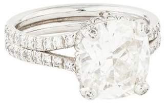 Verdura Platinum Diamond Lace Engagement Ring