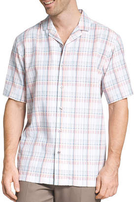 Van Heusen Short Sleeve Plaid Button-Front Shirt