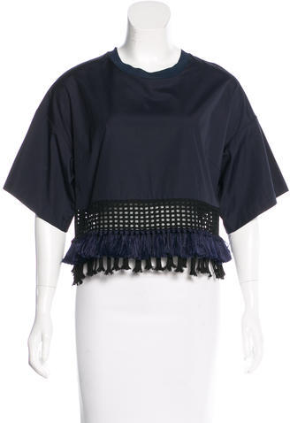 3.1 Phillip Lim 3.1 Phillip Lim Fringe-Trimmed Crop Top