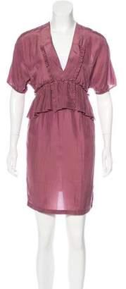 Stella McCartney Silk Ruffle-Trimmed Dress