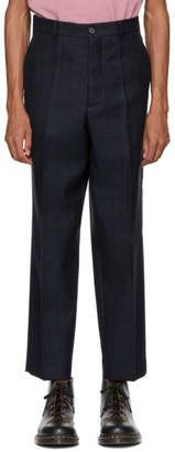 Marni Navy Check Classic Trousers