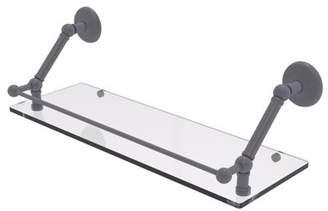 Allied Brass 22 Inch Glass Vanity Shelf with Beveled Edges