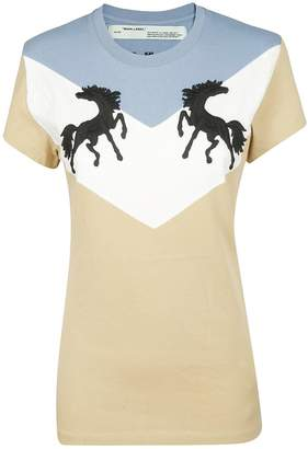 Off-White Off White Embroidered T-shirt