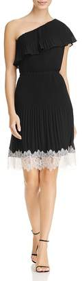 MICHAEL Michael Kors Womens One Shoulder Pleated Party Dress