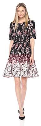 Julian Taylor Women's Chandelier Printed Fit and Flare Dress