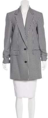 Michael Kors Wool Houndstooth Coat