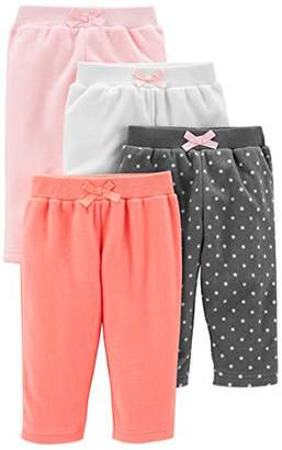 Carter's Simple Joys by Girls' 4-Pack Fleece Pant