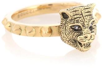 2349f051a Gucci Le Marche des Merveilles 18kt gold ring with diamonds