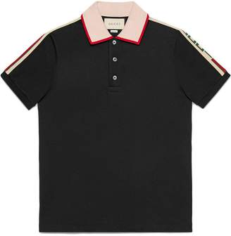 Gucci Black Stripe polo shirt