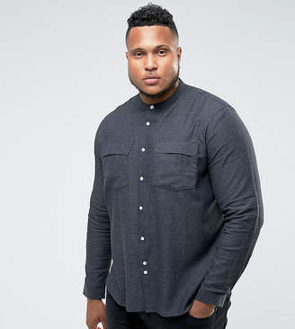 Bellfield PLUS Shirt In Grandad Collar With Pockets