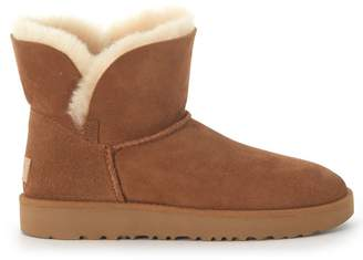 UGG Classic Cuff Mini Ankle Boots In Leather Suede