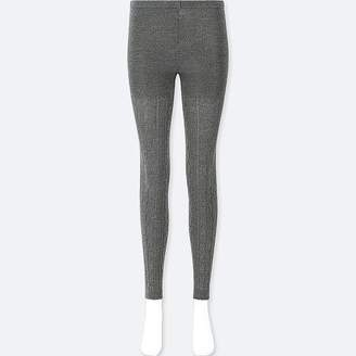 Uniqlo Women's Heattech Knitted Cable Leggings