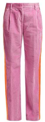 MSGM Pleated Corduroy Trousers - Womens - Pink