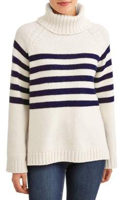 Lucca Couture Women's McKenzie Turtleneck Knit Sweater