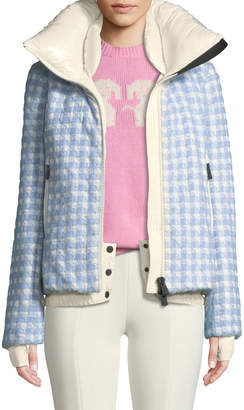 Moncler Mufule Hooded Check Puffer Jacket