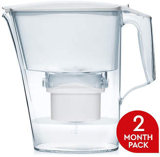 Aqua Optima Liscia Filter Jug with 60 Day Cartridge - White