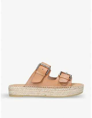 Carvela Klever leather flatform sandals