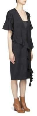 Maison Margiela Asymmetrical Ruffle Dress