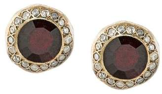 Rosa Maria garnet and diamond studs
