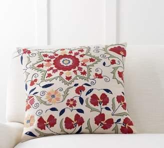 Pottery Barn Darren Embroidered Pillow Cover