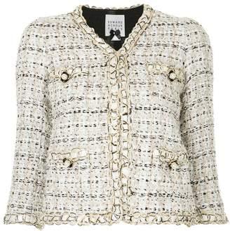 Edward Achour Paris pearl buttons tweed jacket