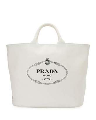 f28a1fdec55c Prada Canvas Tote Bag - ShopStyle
