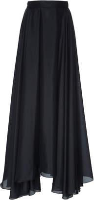 Prada Habotai Pleated Silk Full Skirt Size: 36