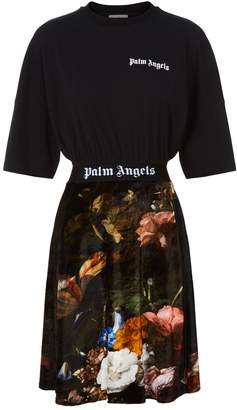 Palm Angels Hybrid T-Shirt Dress