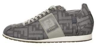 Fendi FF Logo Canvas Sneakers blue FF Logo Canvas Sneakers
