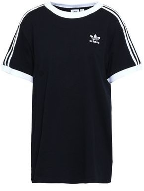 adidas Grosgrain-trimmed Embroidered Cotton-jersey T-shirt
