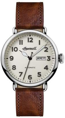 Ingersoll WATCHES Trenton Automatic Leather Strap Watch, 44mm
