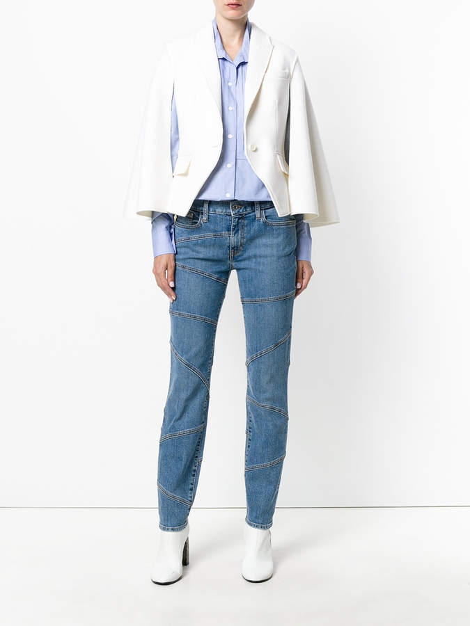 Burberry hemd mit plissiertem brusteinsatz - Burberry hemd damen ...