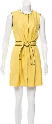 Fendi Silk Pleated Dress