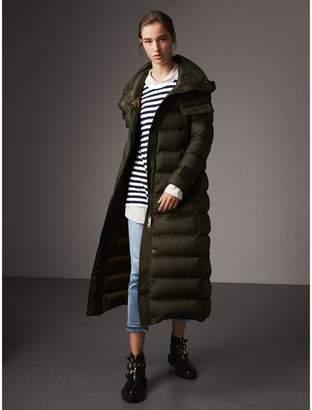 Burberry Detachable Hood Long Down-filled Puffer Coat