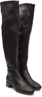 See by Chloe Thigh-High Boots with Embellishment