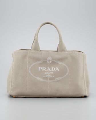 Prada Denim Small Gardener's Tote Bag, Corda