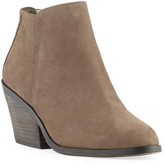 Eileen Fisher Rove Nubuck Block-Heel Booties