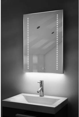 Diamond X Collection Digital Clock Slim Bathroom Mirror with RGB Lighting, Demist & Sensor k184rgb