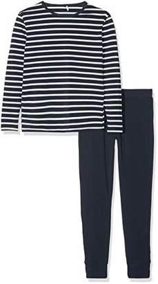 3000817dad8 Name It NOS Boy's Nkmnightset Yd Noos Pyjama Set, Multicolour Dark Sapphire