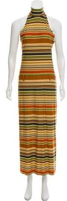 Laundry by Shelli Segal Printed Mock Neck Maxi Dress