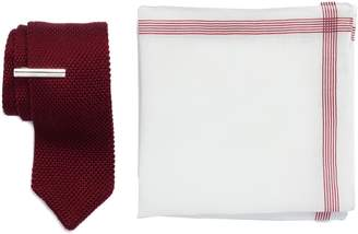 The Tie Bar Pointed Tip 3-Piece Knit Tie Style Box