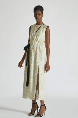 Yigal Azrouel Daffodil Feather Fil Coupe Dress