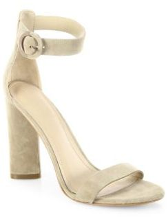 KENDALL + KYLIE Giselle High-Heel Suede Ankle Strap Sandals $130 thestylecure.com