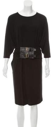Michael Kors Jersey Belted Dress