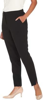 GRAVER Susan Graver Double Weave Zip Front Ankle Pants